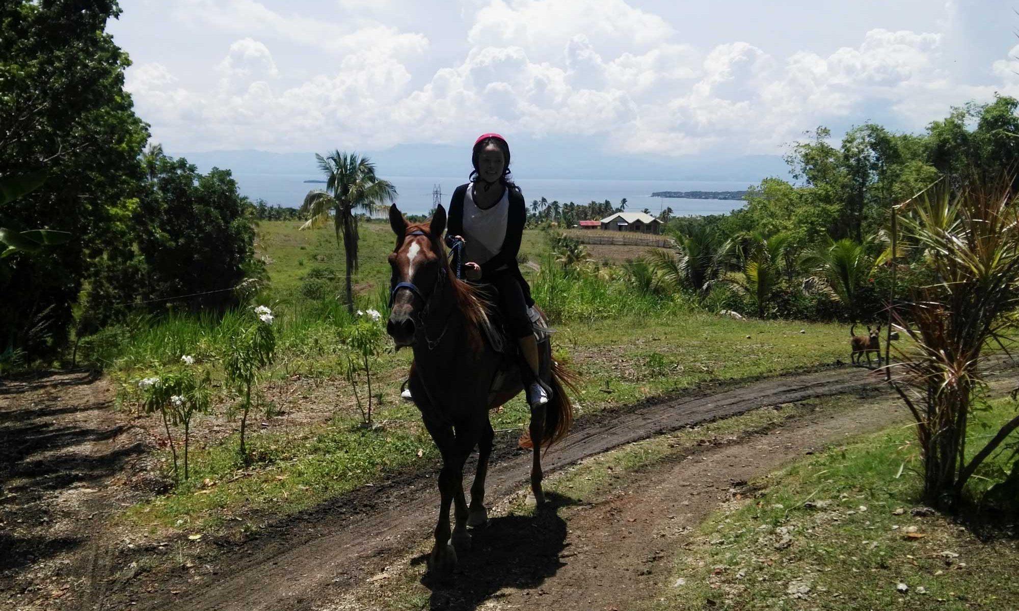Horseback riding at Moalboal