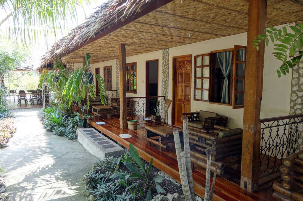 Twin Bed room with terrace - Tipolo Beach resort Moalboal